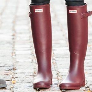 Burgundy Hunter Boots